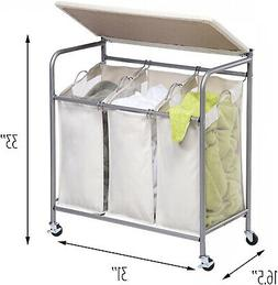 3 Bin Laundry Sorter Honey Can Ironing Board and Combo Beige