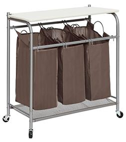 StorageManiac 3 Lift-off Foldable Laundry Sorter with Ironin