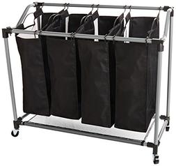 Laundry Sorter - Deluxe Quad Sorter with Mesh Bags