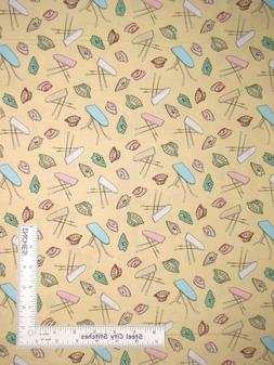 Basket Ironing Board Iron Yellow Cotton Fabric Windham Laund