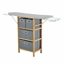 Collapsible Drop Leaf Ironing Board Shelving Unit With Foldi