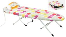 Home Basics NEW Colorful Foldable Tabletop Ironing Board wit