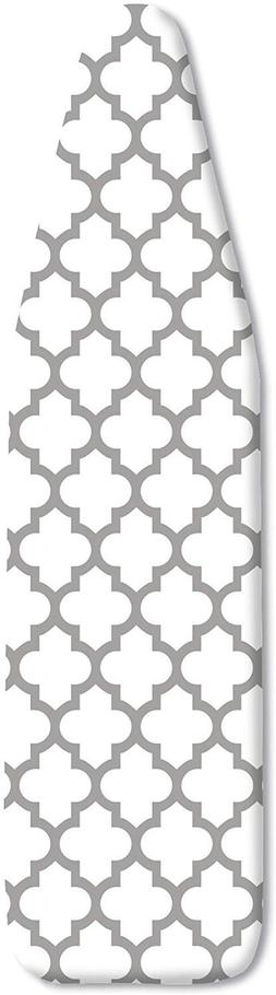 Whitmor Deluxe Ironing Board Cover and Pad - Medallion Gray,