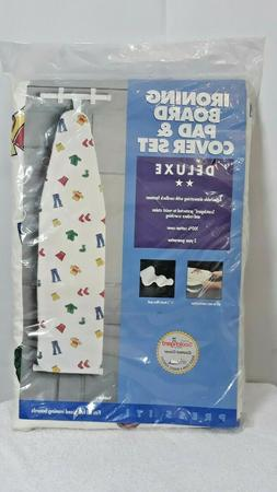 Deluxe Ironing Board Graphic Cover & Pad Set Fits Full Sized