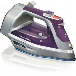 Hamilton Beach Durathon Digital Retractable Cord Iron, Purpl