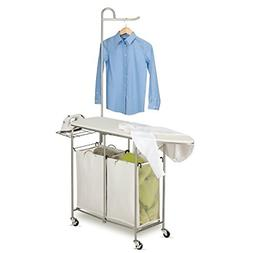 Foldable Ironing Board Laundry Center Rolling Station Storin