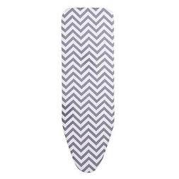 Grey Wave Ironing Board Cover Extra Thick Mat Pad Resists Sc