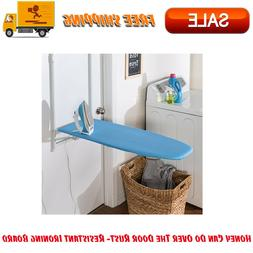 Honey Can Do Over The Door Rust- Resistant Ironing Board, Bl