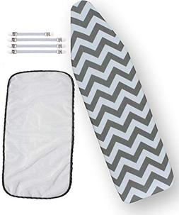 Ironing Board Cover Bundle 3 Items: 1 U.S. Standard Size, Ex