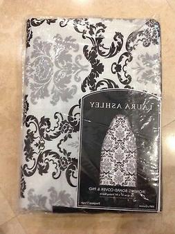 LAURA ASHLEY IRONING BOARD COVER  & PAD GRAY BLACK  FLORAL D