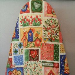 Ironing Board Cover, handmade, quilted double sided fabric,