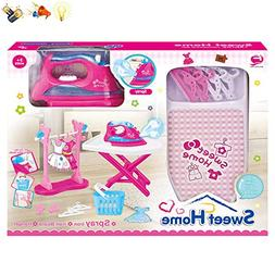 sweethome Ironing Board Set & Play Iron with Light, Sound an