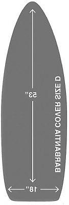 18 x 53 Padded Ironing Board Cover 3 layers made for Brabant