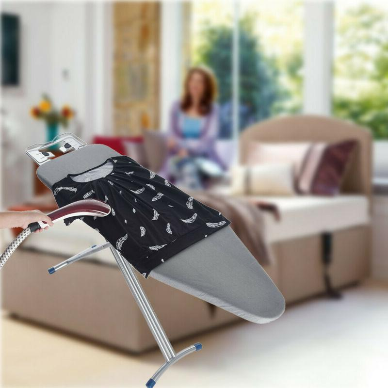 48x15'' Home Steel Mesh Ironing Board 4 Leg Foldable Adj