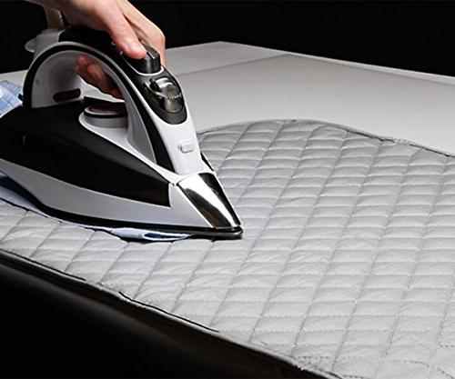 Houseables Ironing Mat Pad, 48x85cm, Gray, Quilted, Dryer Board Alternative