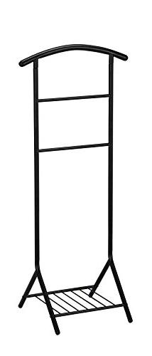 Kings Brand Black Tubular Metal Suit Valet Rack Stand Organi