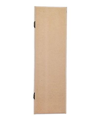 USAFlagCases Cabinet Raw Wood, Iron Fold Routed Door