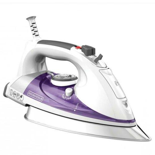 black decker professional steam iron with extra