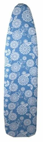 """Sunbeam Coastal Floral 15"""" x 54"""" Cotton Ironing Board Cover,"""