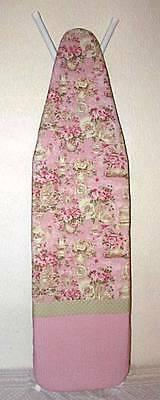 Handmade Custom Ironing Board Cover Pattern Tea for Two fabr