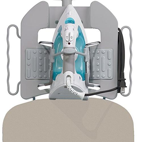 Polder IB-5119RM Oversized x Ultimate Ironing Board Built-in Iron Rest, Garment Thick 100% Cotton