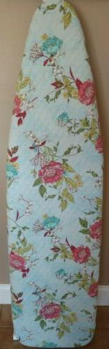 ironing board cover, handmade, quilted fabric, reversible, f