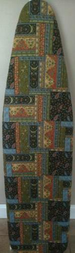 ironing board cover, handmade, quilted fabric, reversible, p