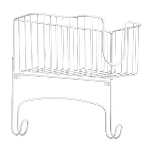 mDesign Ironing Board Large Storage Basket Holds Board, Bottles, Starch, Refresher for -