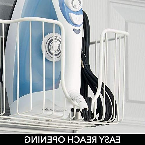 mDesign Ironing Board Holder with Large - Holds for White