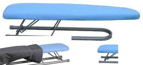 sleeve ironing board with removable cover blue