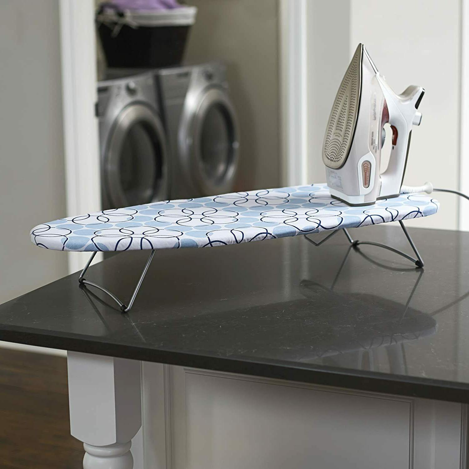 Household Essentials 122101 Small Tabletop Ironing Board wit