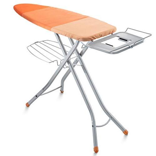 Stability Space Saving Size 48 x 16 inches European Made Board Steam Iron Rest Bartnelli Adjustable Ironing Board with Cover