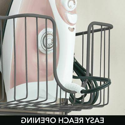 mDesign Wall Mount Ironing Board Basket