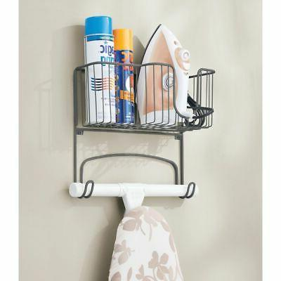 mDesign Mount Ironing Board Basket