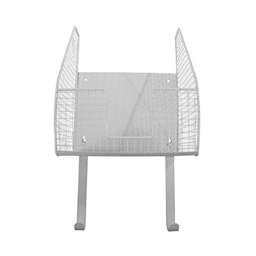 Spectrum Single Basket with Holder, White