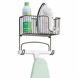MDesign Ironing Accessories Metal Wall Mount Board Holder Wi