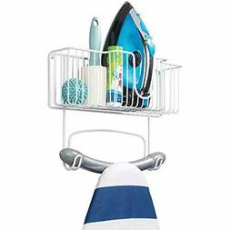 MDesign Ironing Accessories Wall Mount Metal Board Holder Wi