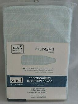NEW HOMZ Cotton Padded Ironing Board Cover Pink Gray White E