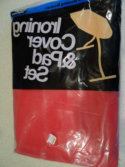 NOS Vintage Ironing Board Cover & Pad Set Vivid RED by Welma