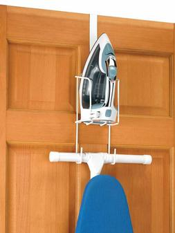Whitmor Wire Over The Door Ironing Caddy Iron & Ironing Boar