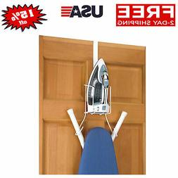 Over the Door Or Wall Ironing Holder Iron Board Hanger Space