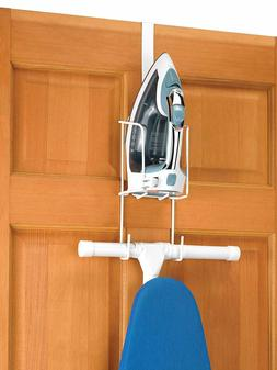 Over-The-Door Mounting Ironing Caddy Holder Iron Board Hange