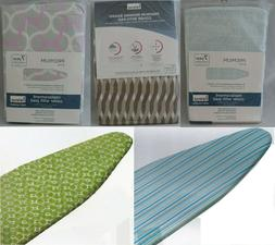 PADDED 100% COTTON IRONING BOARD COVER WITH ASSORTED DESIGNS