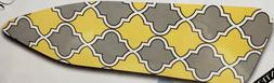 Padded Ironing Board Cover & Pad, WHITE,GRAY & YELLOW DESIGN