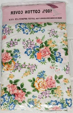 Padded Ironing Cotton Board Cover and Pad,  FLOWERS # 2, Lav