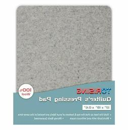 """Quilter's Pressing Pad Mat- 12""""x18""""x0.6"""" 100% Wool for Profe"""
