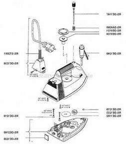 RS-DE1147 - Stem of Punch Iron a Ironing Board Rowenta Trio