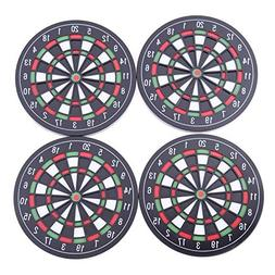 Rubber Coasters - 4pcs Coaster Utensils Dart Board Styled Pl