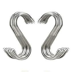 20 Pack S Shaped Hooks Stainless Steel Metal Hangers Hanging