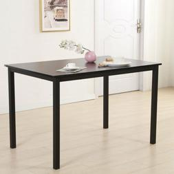 Simplistic Iron Frame/Density Board Dining Table Kitchen Hom